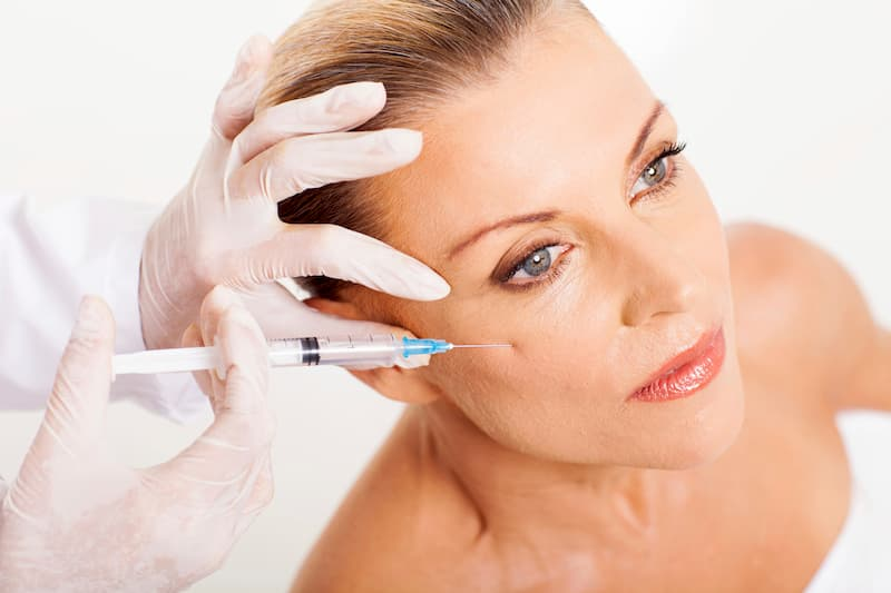Injection by needle is the method of choice for Botox, the most direct way for the solution to be introduced to key areas on the face.